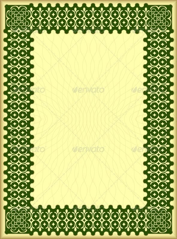 Decorative certificate - Borders Decorative