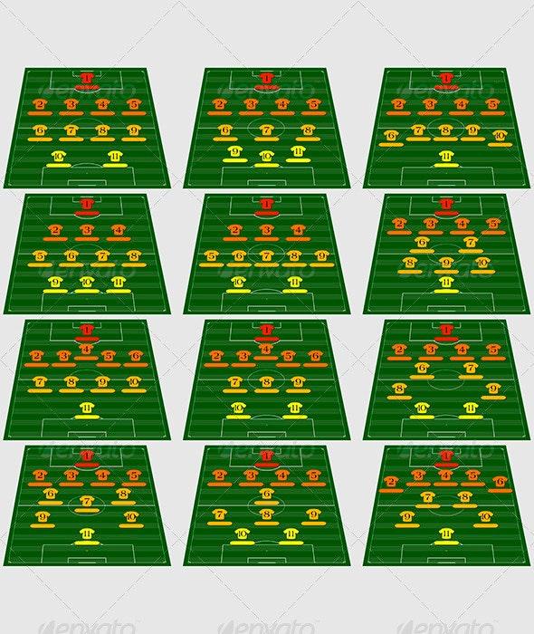 Football tactical schemes - Sports/Activity Conceptual