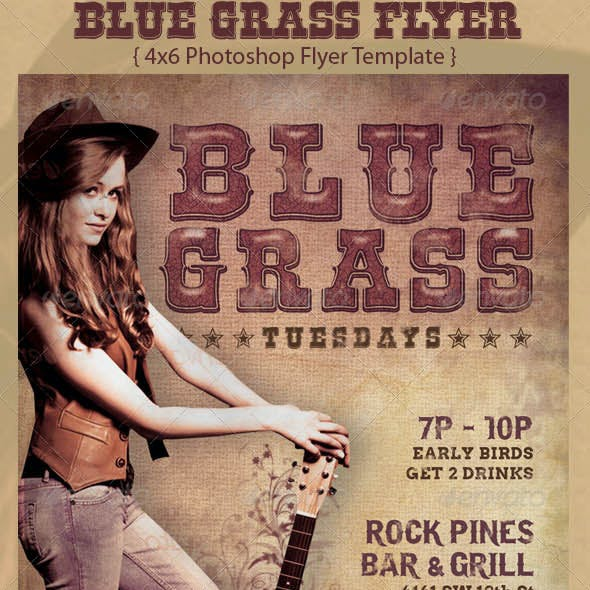 Blue Grass Country Flyer Template