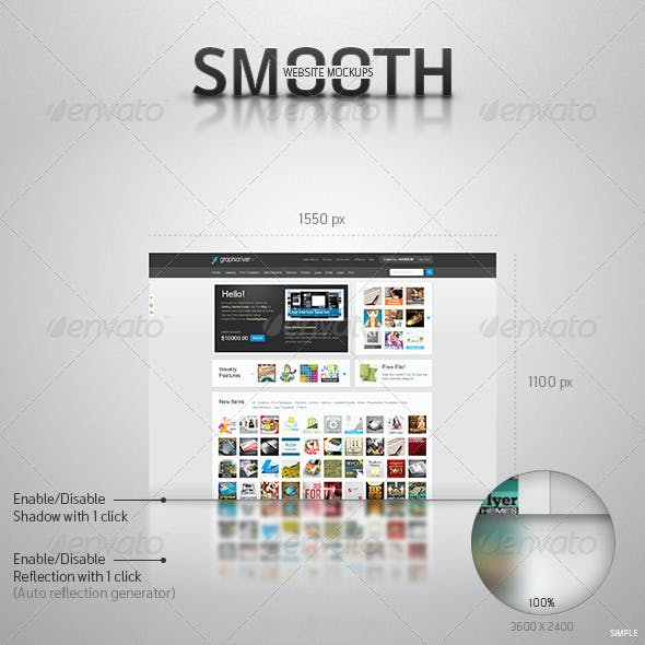 Smooth Website Mockups