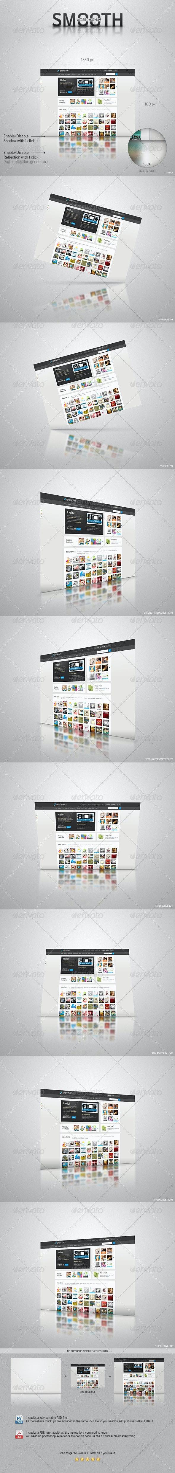 Smooth Website Mockups - Website Displays