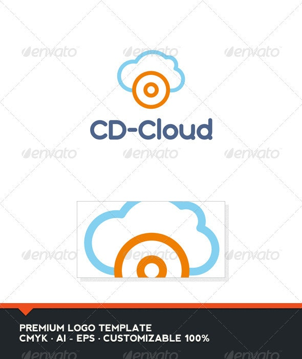 CD-Clud Logo Template - Objects Logo Templates