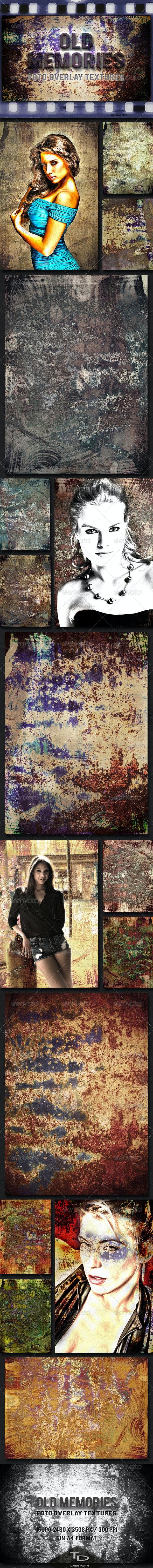 Old Memories 16 Grunge Set - Urban Backgrounds
