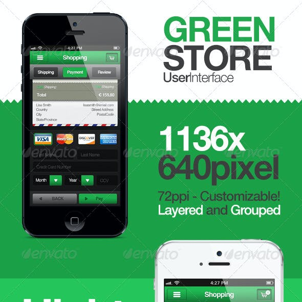 Green Store - Shopping User Interface
