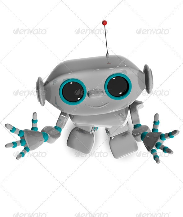 Cheerful Robot Top - 3D Backgrounds