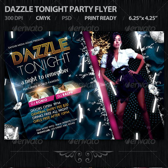 Dazzle Tonight Party Flyer