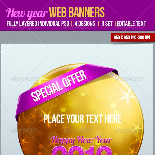 New Year Web Banners