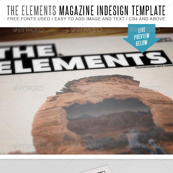 The Elements Indesign MGZ Template