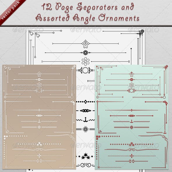 12 Page Dividers and Angle Ornaments