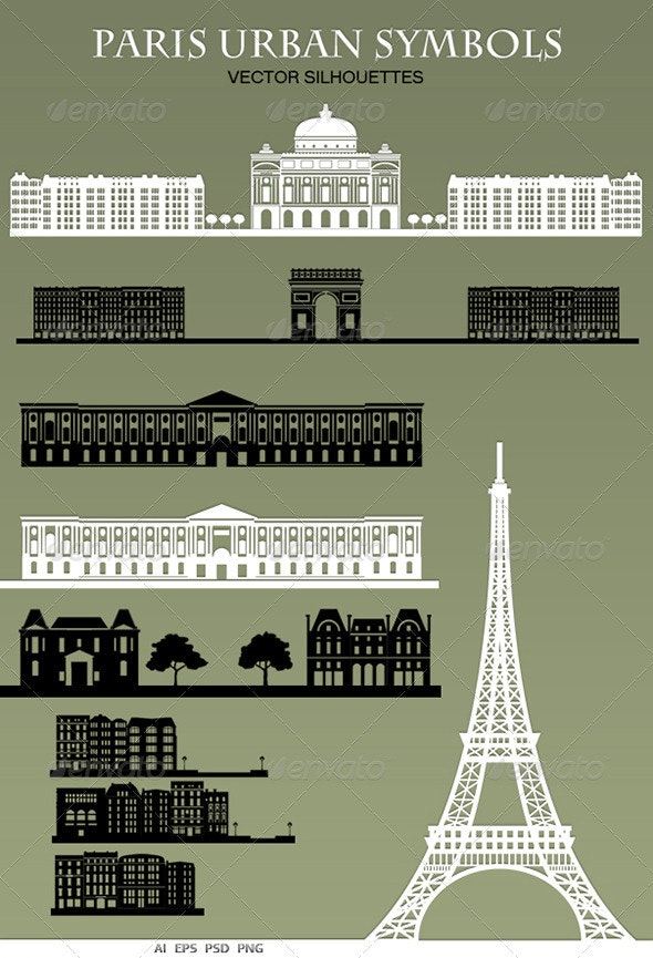 Paris Urban Symbols - Buildings Objects