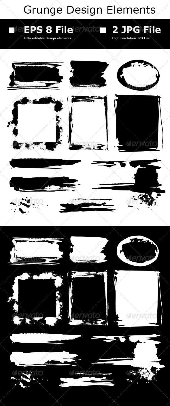 Grunge Design Elements - Decorative Vectors