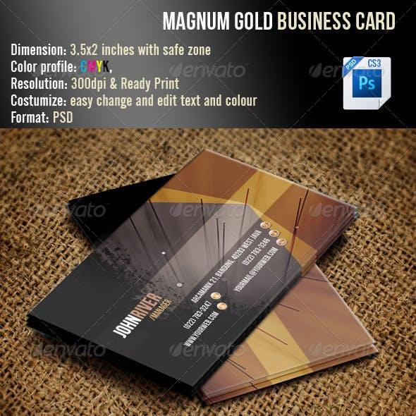Magnum Gold Business Card