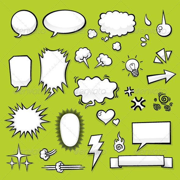 Comic Elements - Decorative Symbols Decorative
