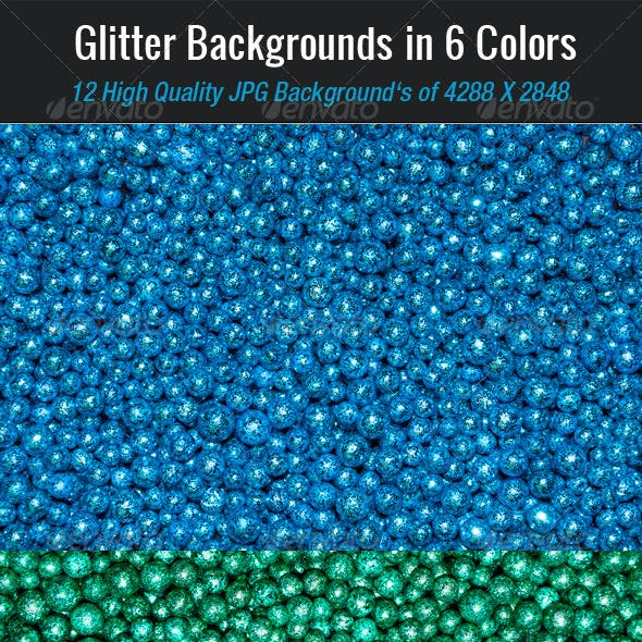 Glitter Backgrounds in 6 Colors