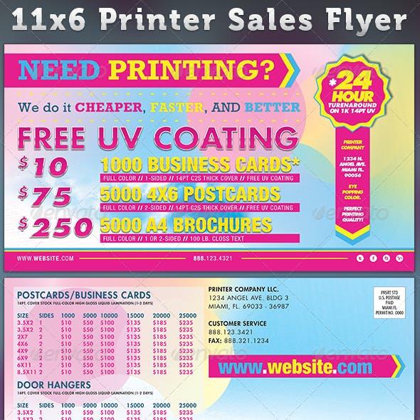 Printer Sales Flyer Template 2