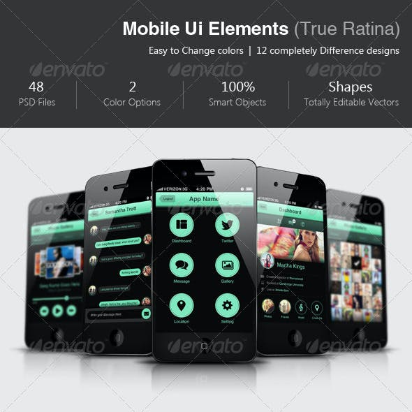 The Complete Mobile UI Elements - True Ratina