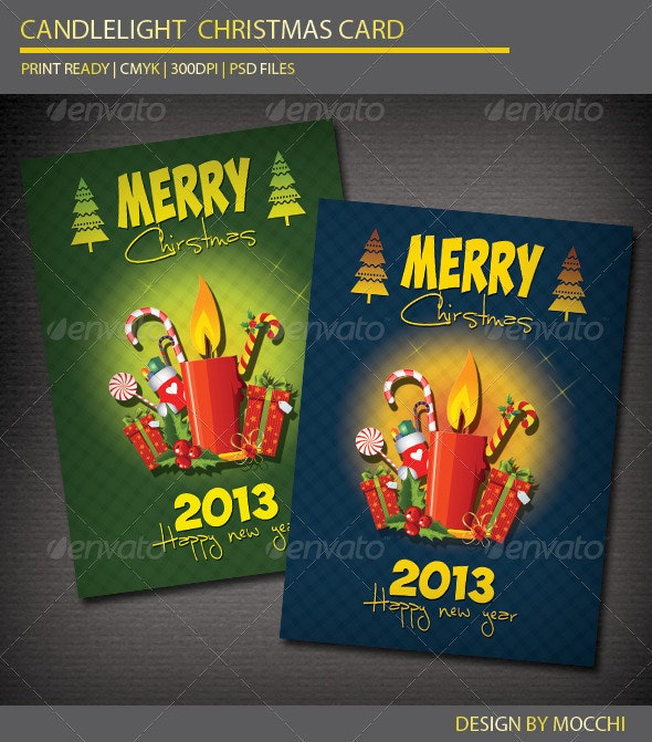 Candlelight Christmas Card - Holiday Greeting Cards