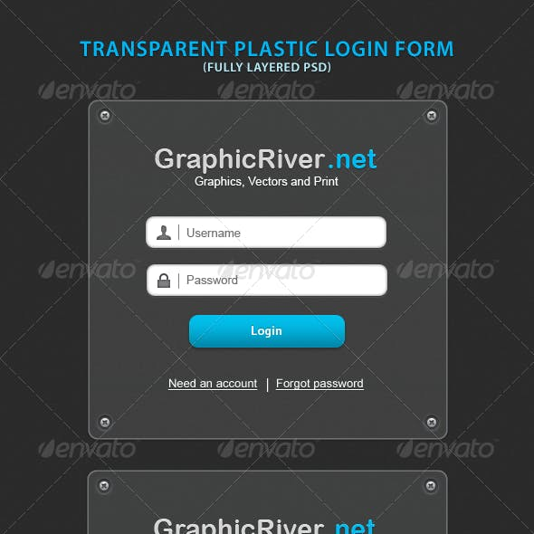 Transparent Plastic Login Form