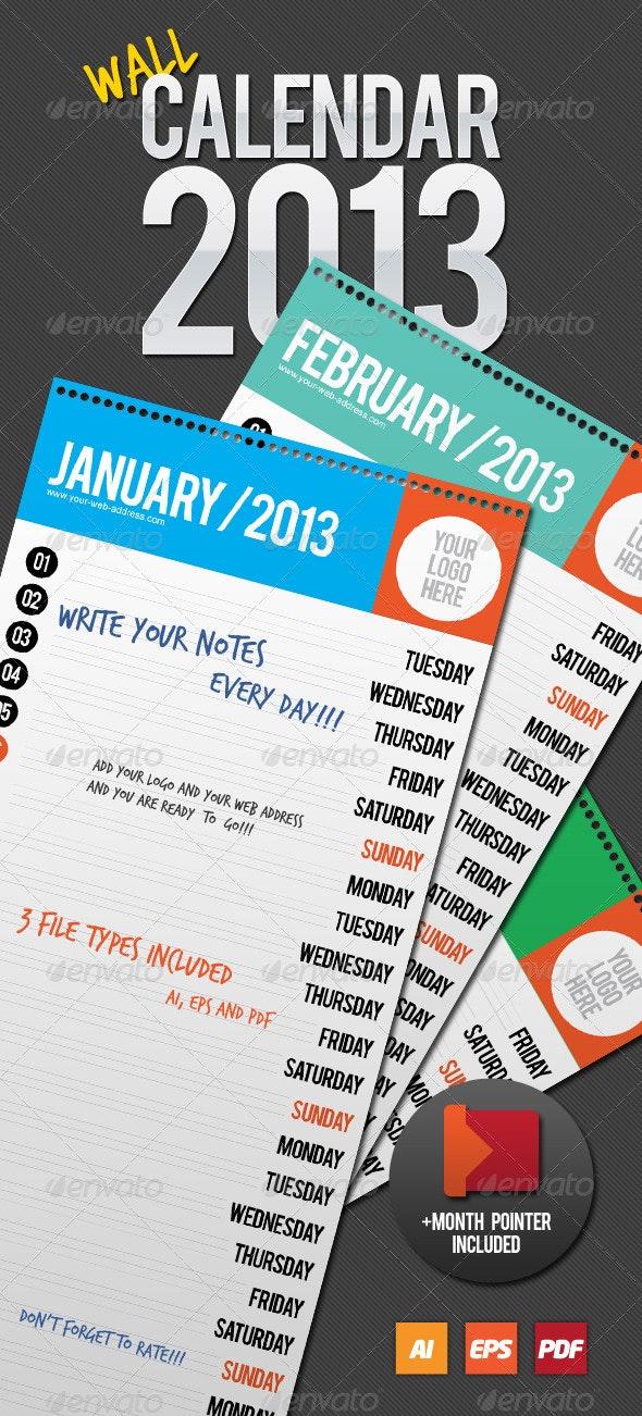 Wall Calendar 2013 - Calendars Stationery
