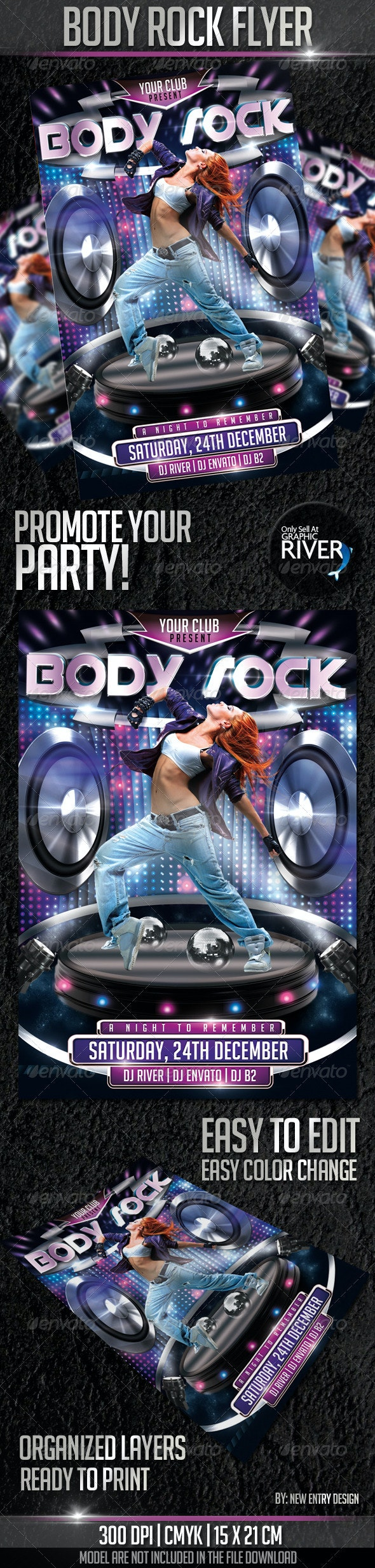 Body Rock Flyer Template - Events Flyers