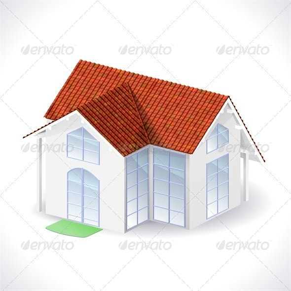 House 3d icon - Buildings Objects