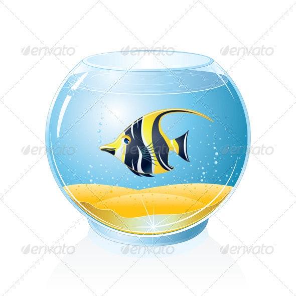 Aquarium with Tropical Fish - Animals Characters