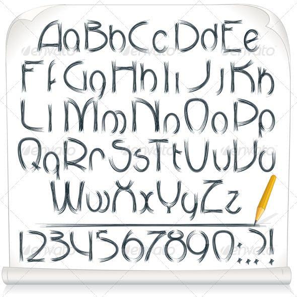 Drawing Sloppy Font