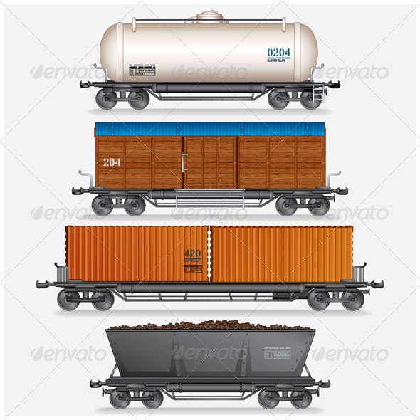 Train Cargo Wagons - Industries Business