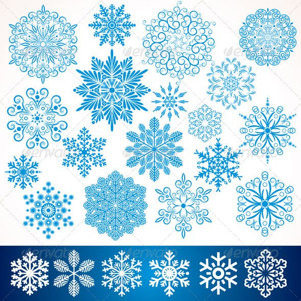 Artistic Vector Snowflakes