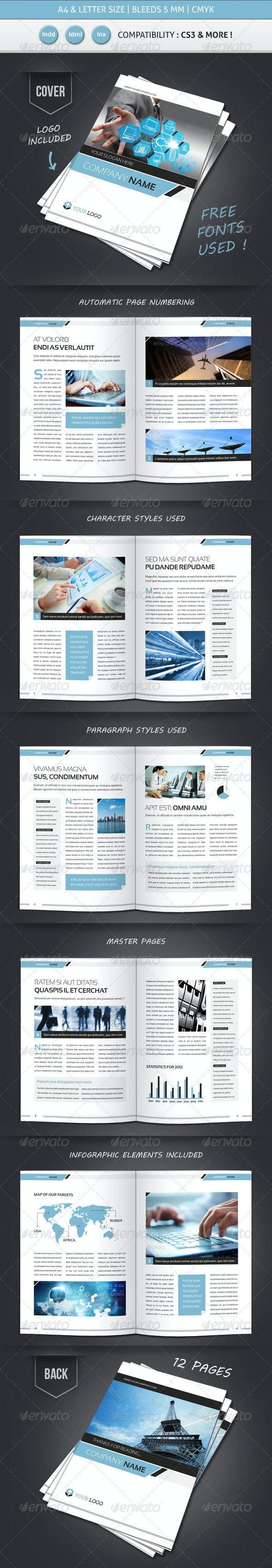 Corporate & Business BROCHURE TEMPLATE A4 & Letter - Corporate Brochures