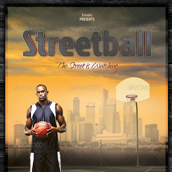 Streetball / Basketball Flyer