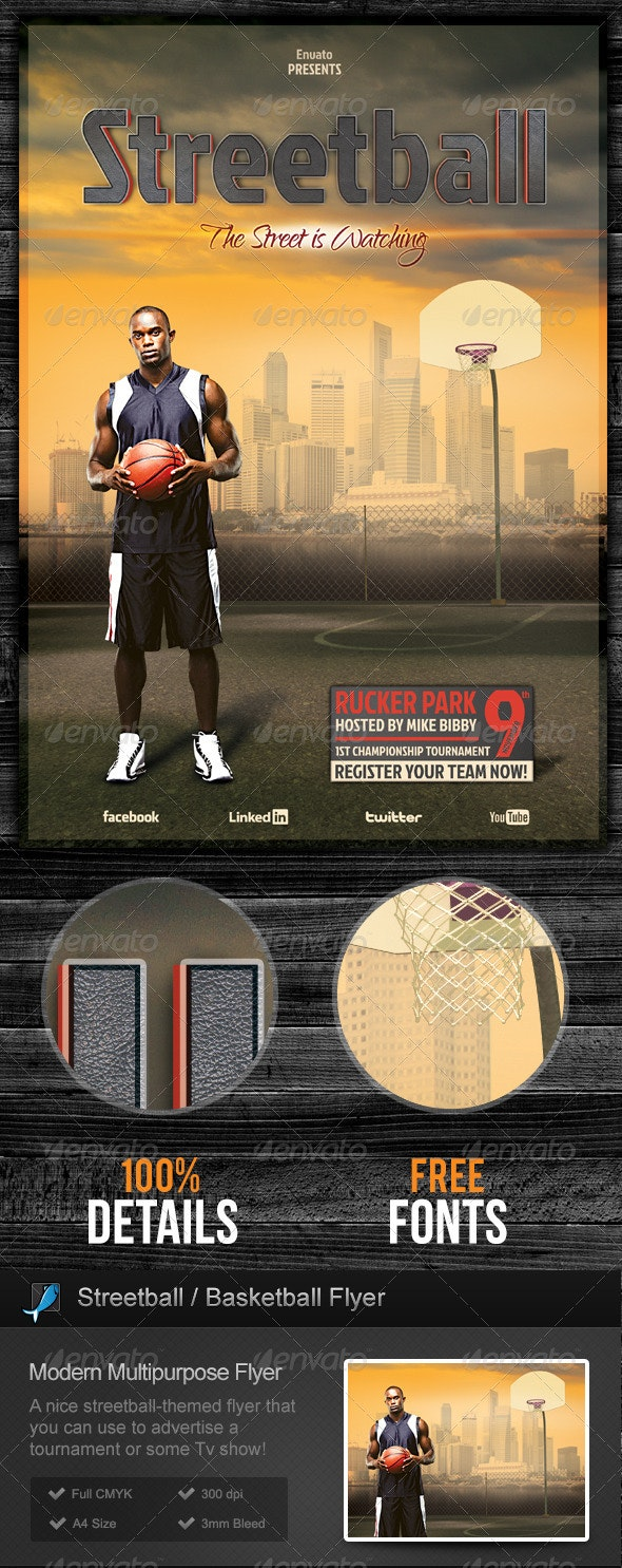 Streetball / Basketball Flyer - Sports Events