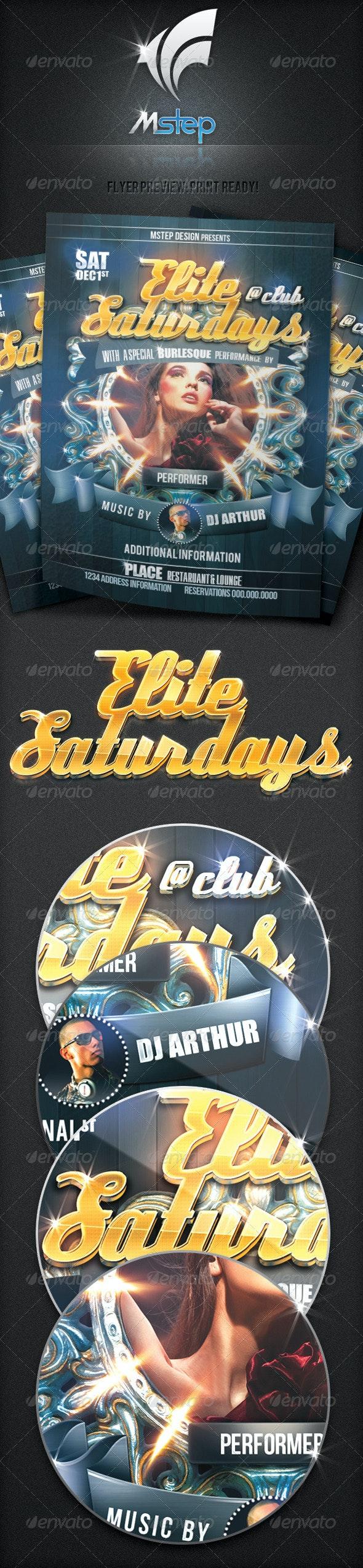 Elite Saturdays Flyer - Clubs & Parties Events
