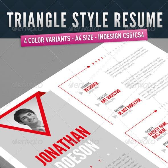 Triangle Style Resume