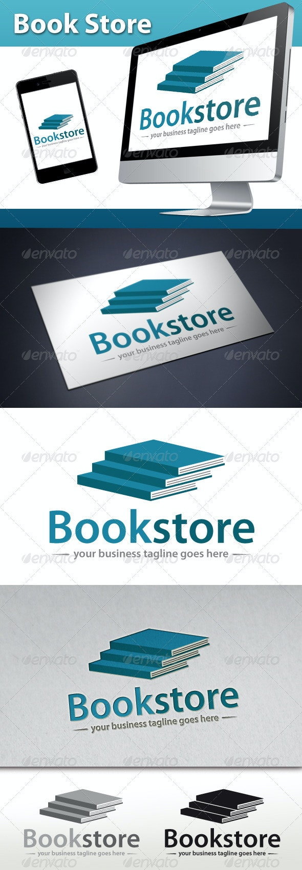Book Store Logo - Objects Logo Templates