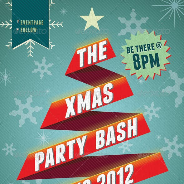 Xmas Party Bash PSD Flyer