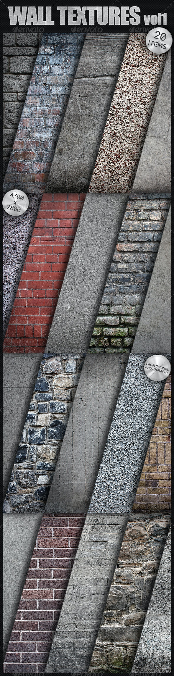 Wall Textures Collection - Brick & Concrete - Stone Textures