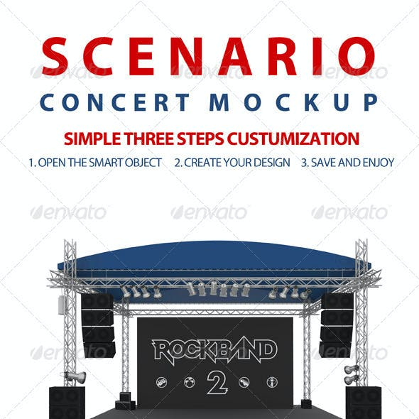 Concert Scenery Mock-up
