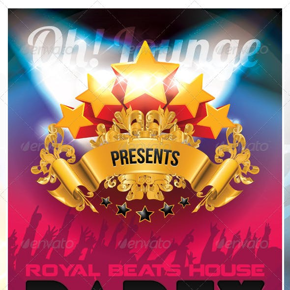 Royal House Party Flyer