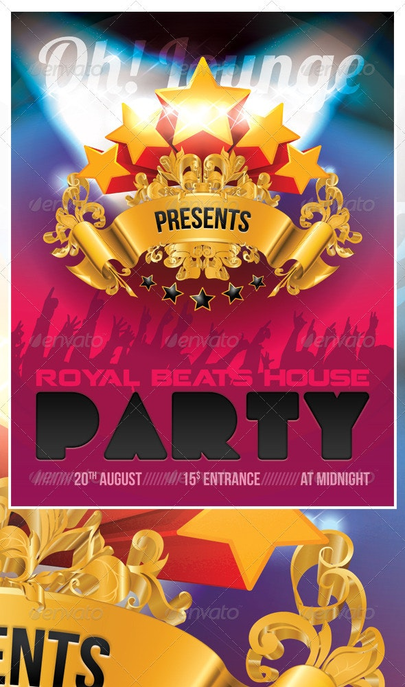 Royal House Party Flyer - Clubs & Parties Events