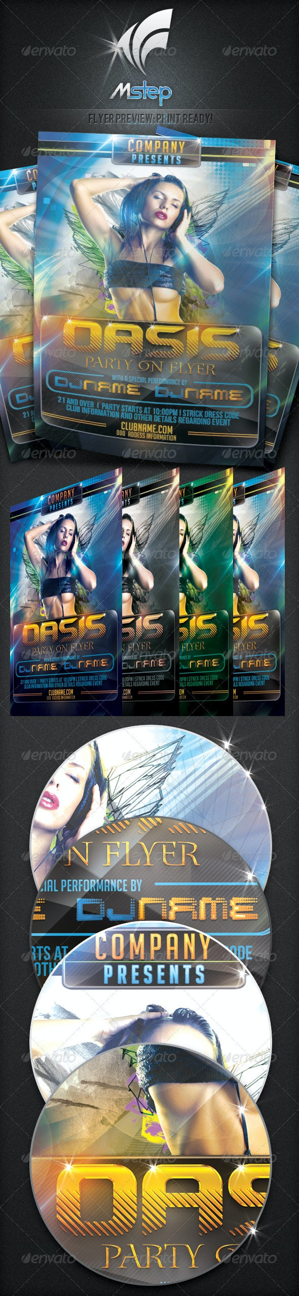 Oasis Party On flyer - Clubs & Parties Events