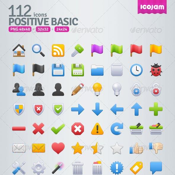 112 Positive Basic Icons