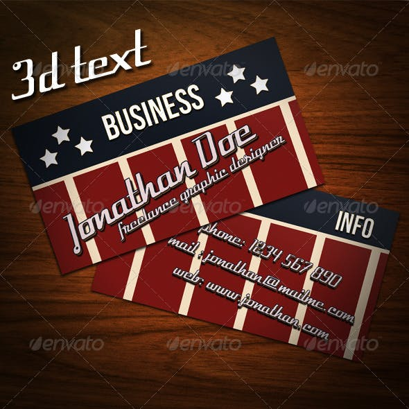 Americana Business Card