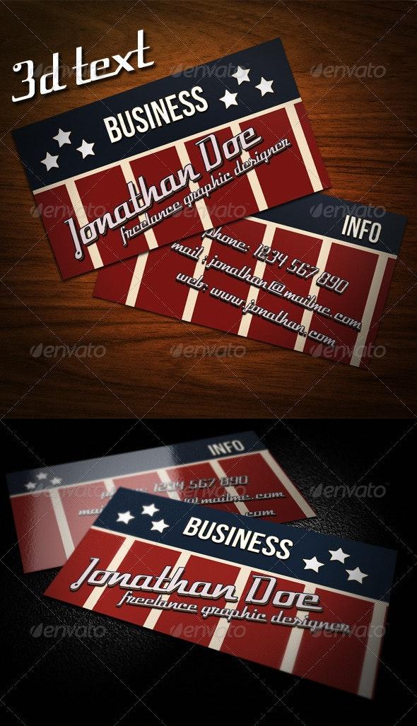 Americana Business Card - Retro/Vintage Business Cards
