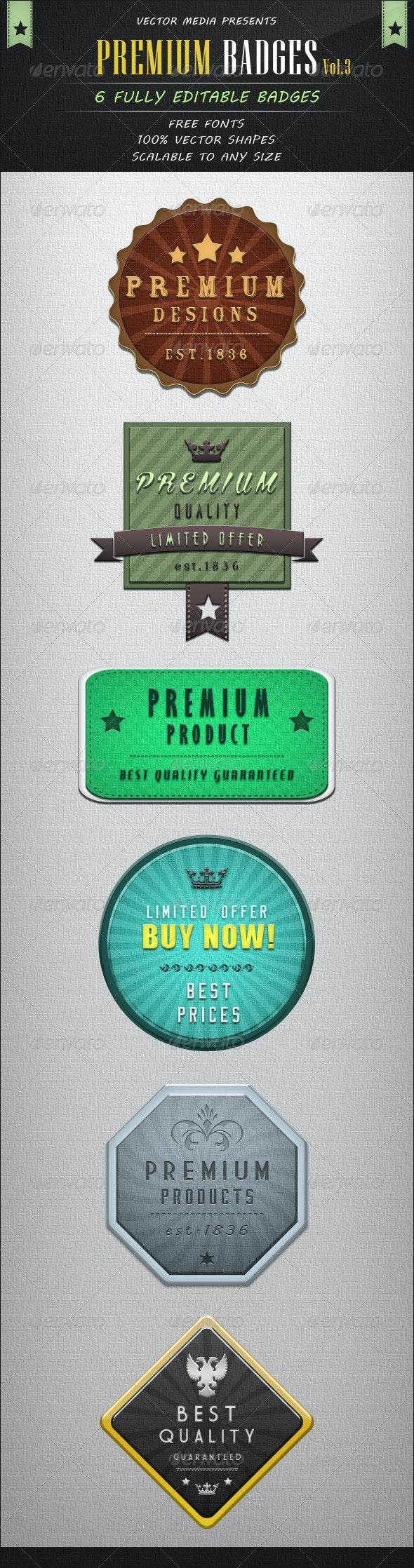Premium Badges - Vol.3 - Badges & Stickers Web Elements