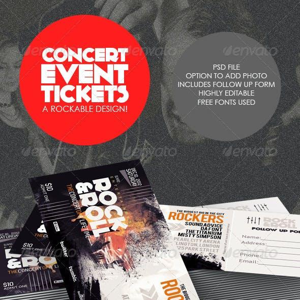 Concert & Event Tickets/Passes - Version 1