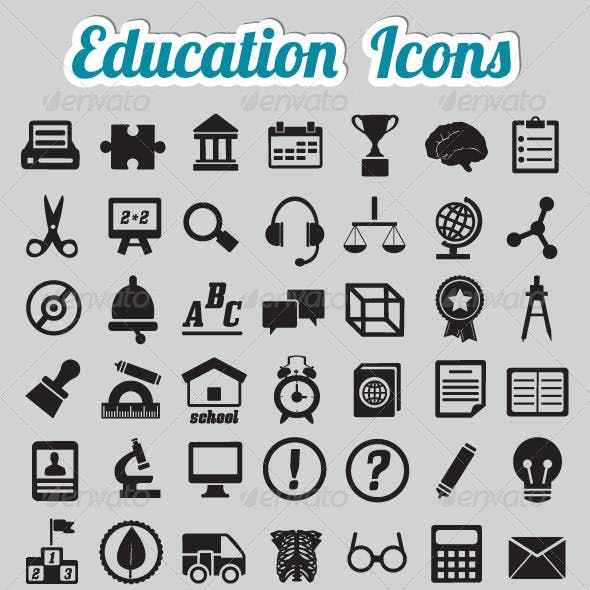 Set of 50 Education Icons