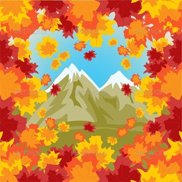 High Mountains on Background Autumn Sheet - Landscapes Nature