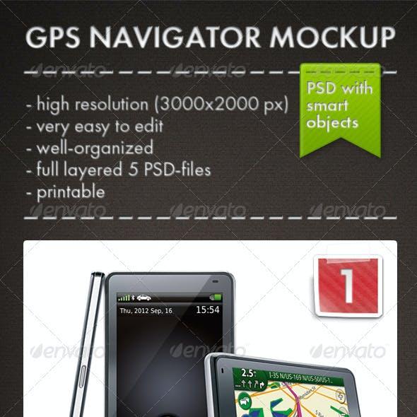 GPS Navigator Mockup