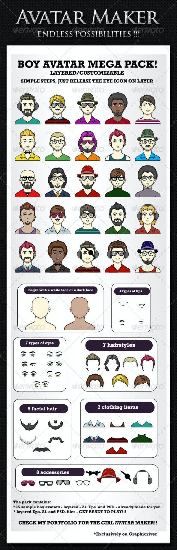 Avatar maker - Boys avatar creator - People Characters